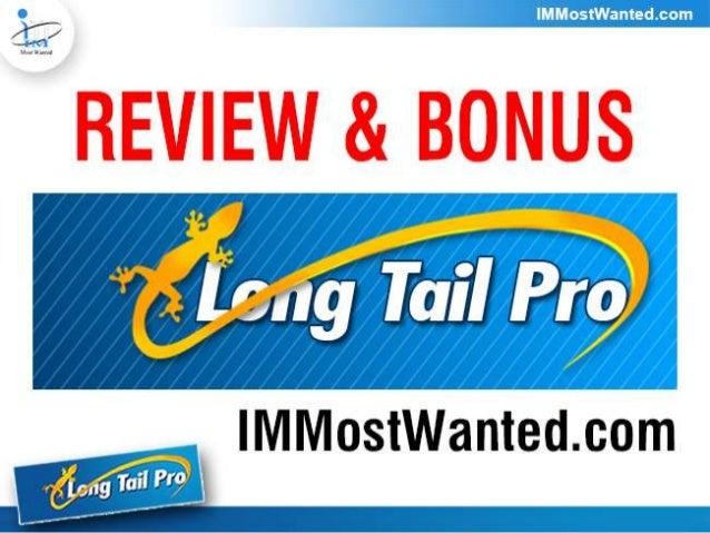 Long Tail Pro Review & Bonus