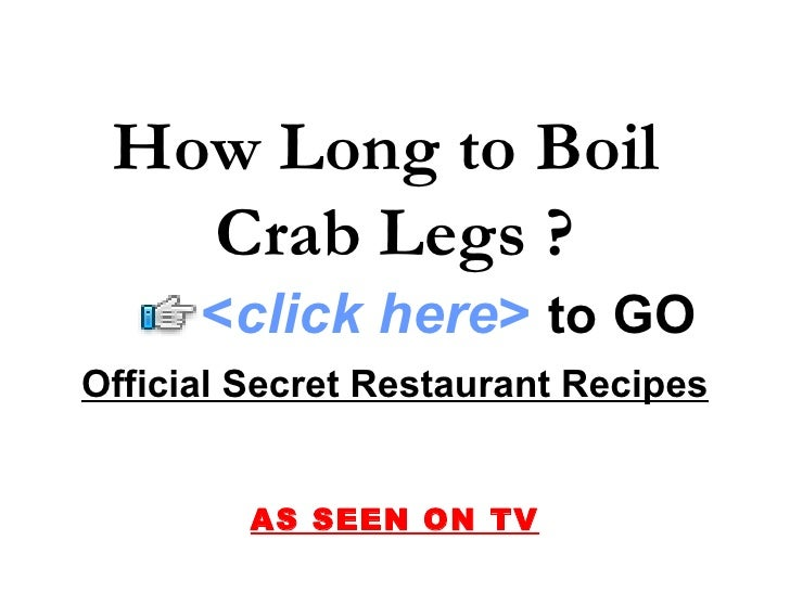 how to cook crab legs boil