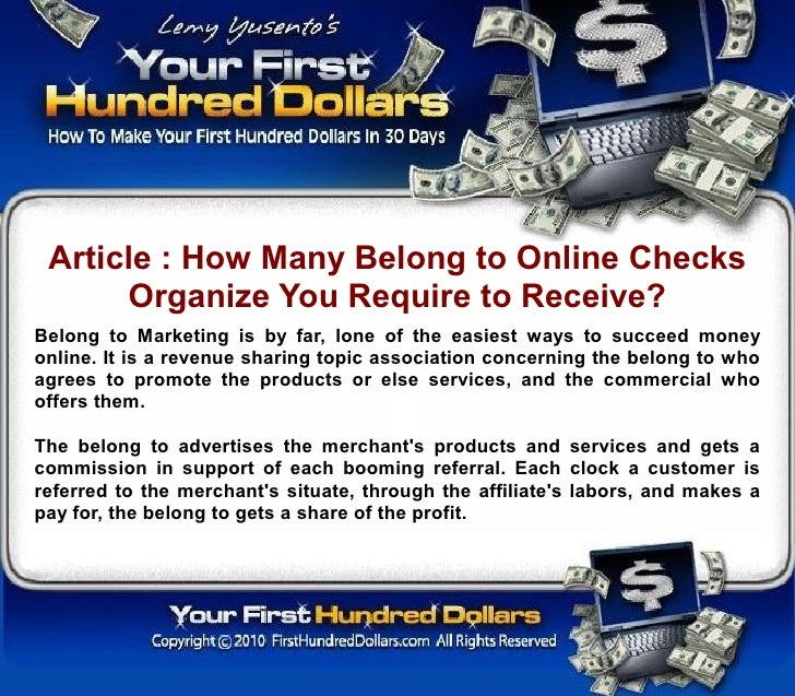 Article : How Many Belong to Online Checks       Organize You Require to Receive? Belong to Marketing is by far, lone of t...