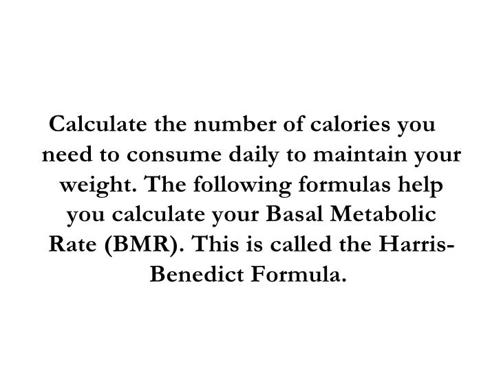 How many calories should I be consuming each day to lose weight?