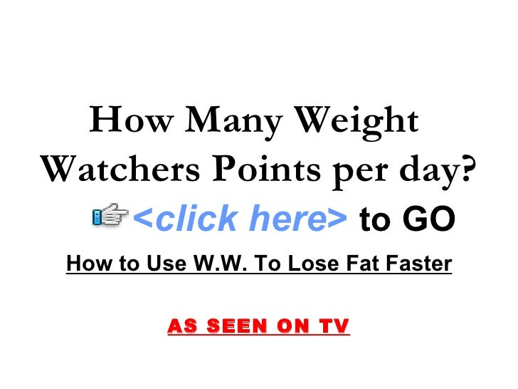 How Many Weight Watchers Points per day