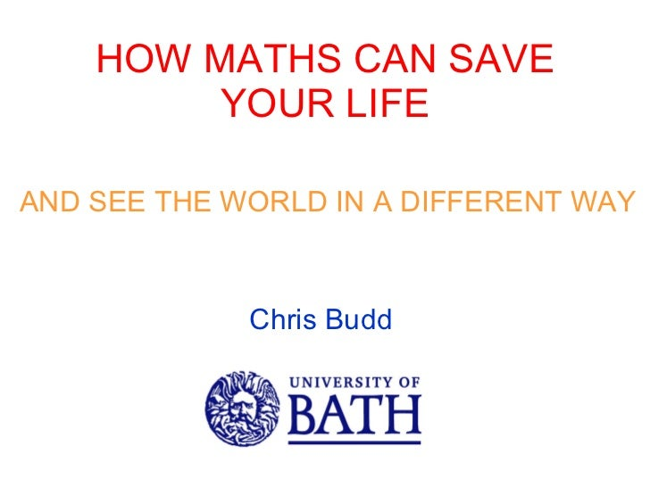 How maths can save you rlife