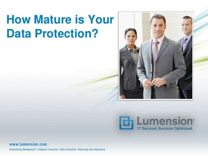 How Mature is YourData Protection?