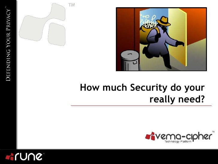 How much Security do you really need?