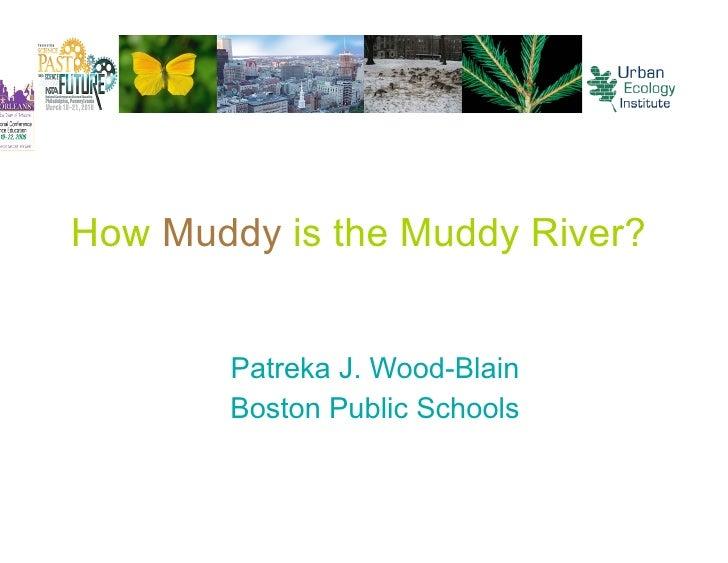 How Muddy is the Muddy River?           Patreka J. Wood-Blain         Boston Public Schools