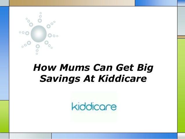 How Mums Can Get Big Savings At Kiddicare