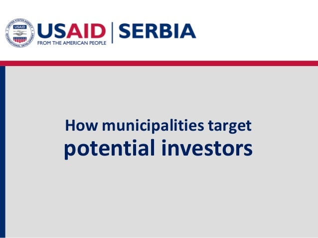 How municipalities target potential investors