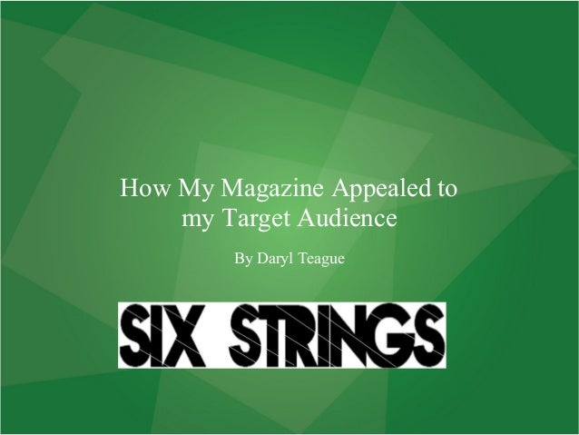 How my magazine appealed to my target audience