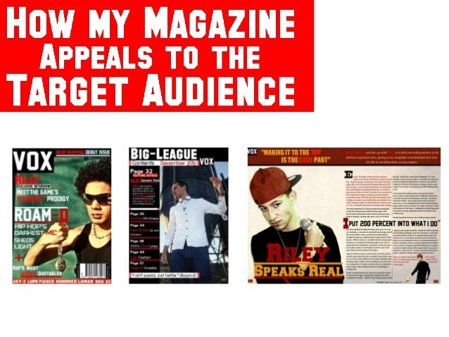How my magazine appeals to the audience
