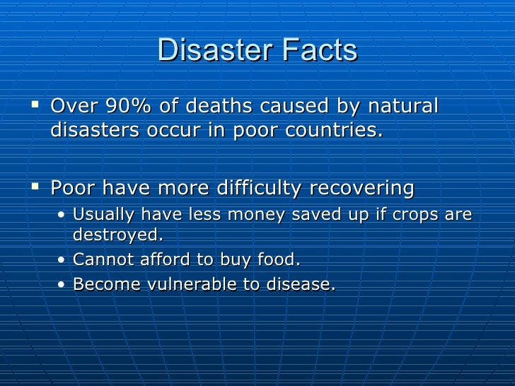 How Natural Disasters Affect Poverty