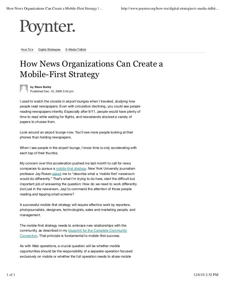 How News Organizations Can Create a Mobile-First Strategy | ...               http://www.poynter.org/how-tos/digital-strat...