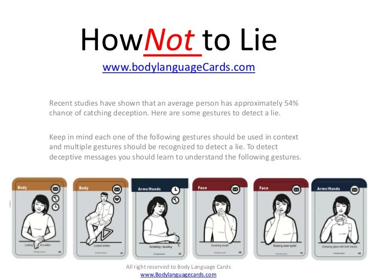 How Not to Lie