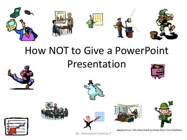 Make a presentation