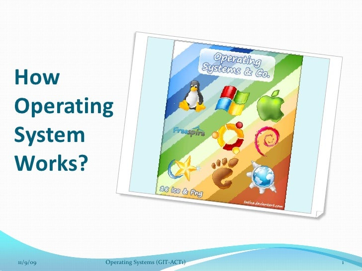 How Operating System Works?<br />11/9/09<br />1<br />Operating Systems (GIT-ACT1)<br />