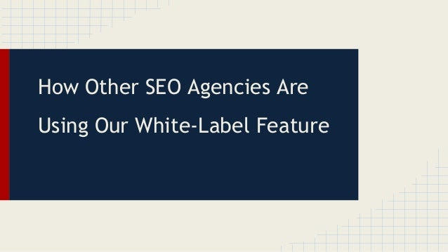 How Other SEO Agencies Are Using Our White-Label Feature