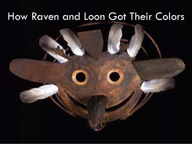 How raven and loon got their colors