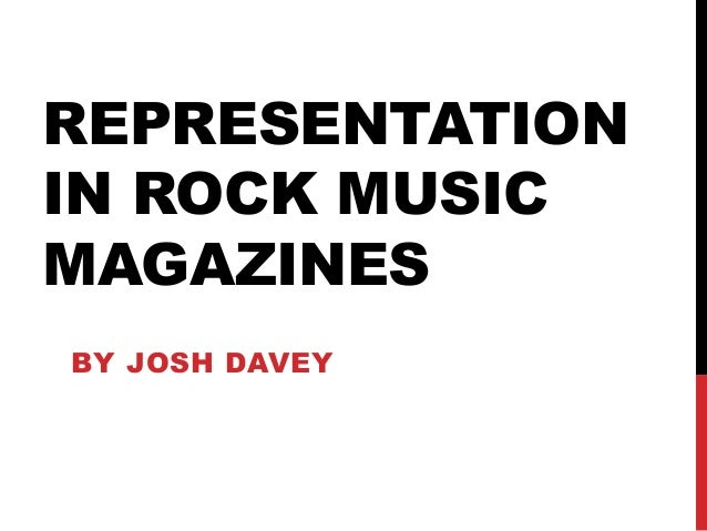 How rock music magazines typically represent people