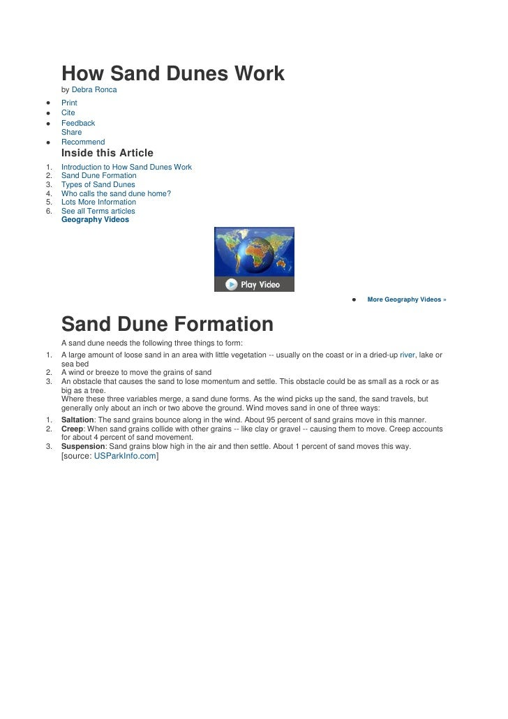 How Sand Dunes Work      by Debra Ronca      Print      Cite      Feedback      Share      Recommend      Inside this Arti...