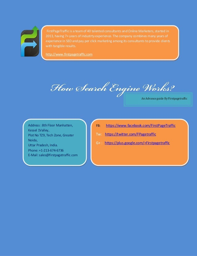 How search engine works ? - A free Guide for SEO