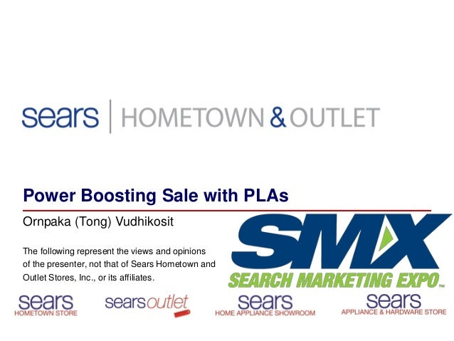 How SEARS Uses Product Listing Ads - PLAs - To Boost Sales