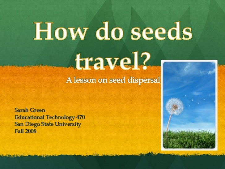 How Seeds Travel