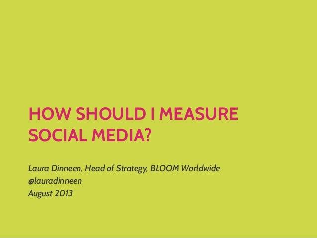 How Should I Measure Social Media?