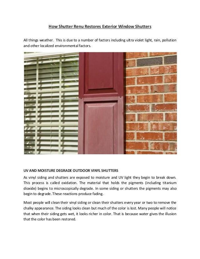 How Shutter Renu Restores Exterior Window Shutters