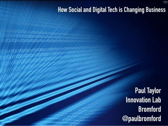 How Social and Digital is Changing Business