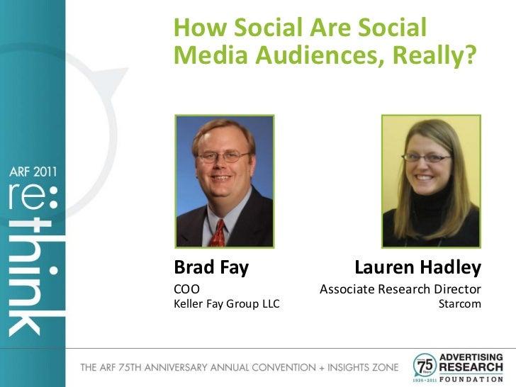 How Social are Social Media Audiences Really