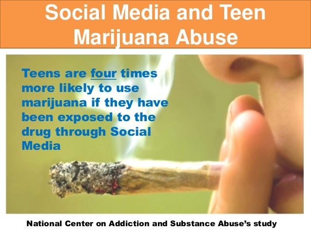 Social media can influence teens with pro-drug messages