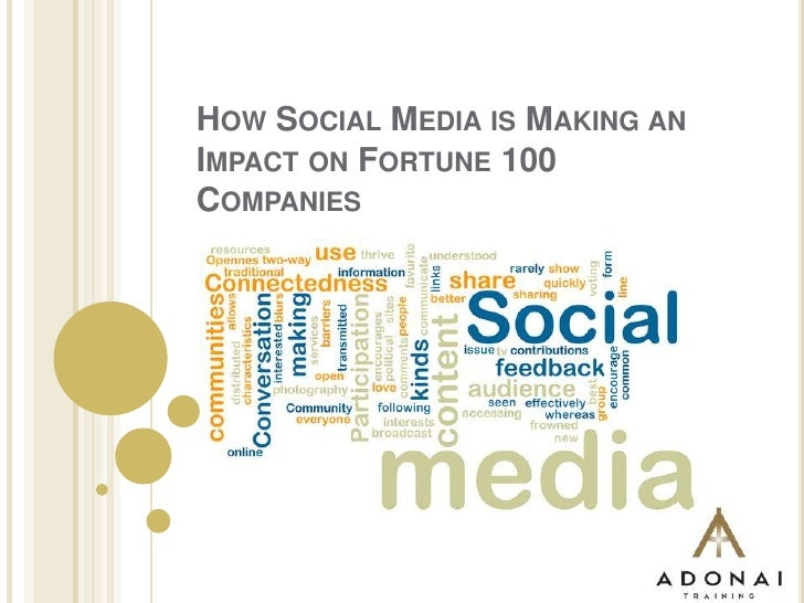 How social media is making impact in fortune 100 companies
