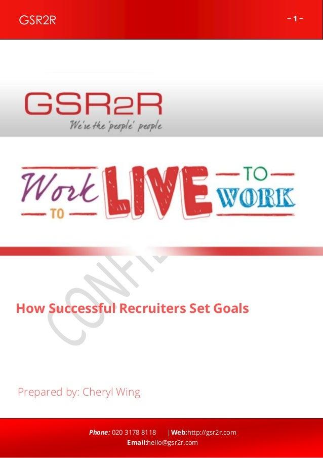 How Successful Recruiters Set Goals