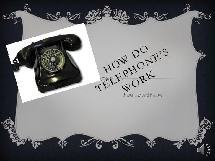 How telephones work humanities