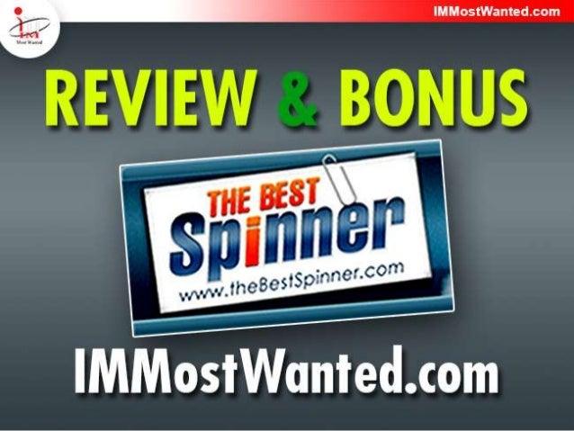 The Best Spinner Review & Bonus