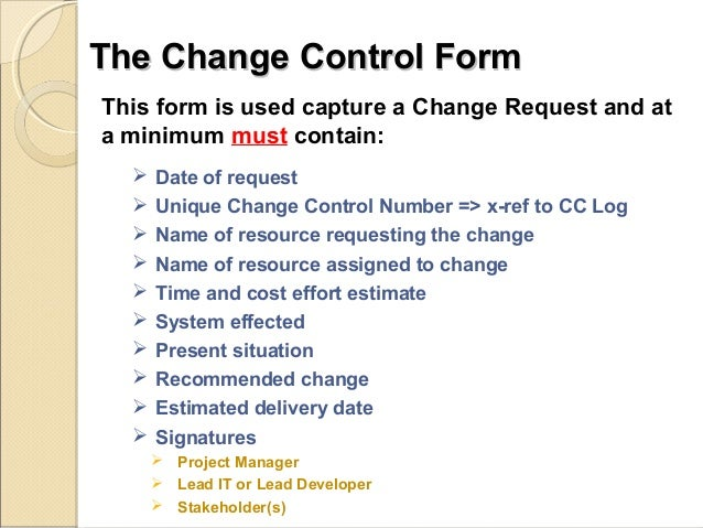 change management process document template - how the change control process affects project quality