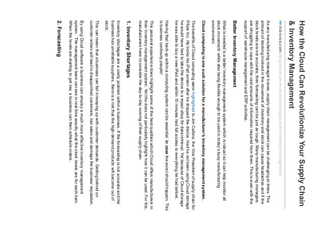 HowtheCloudCanRevolutionizeYourSupplyChain &InventoryManagement ind-svcs.com/blog/cloud-can-revolutionize-supply-chain-inv...
