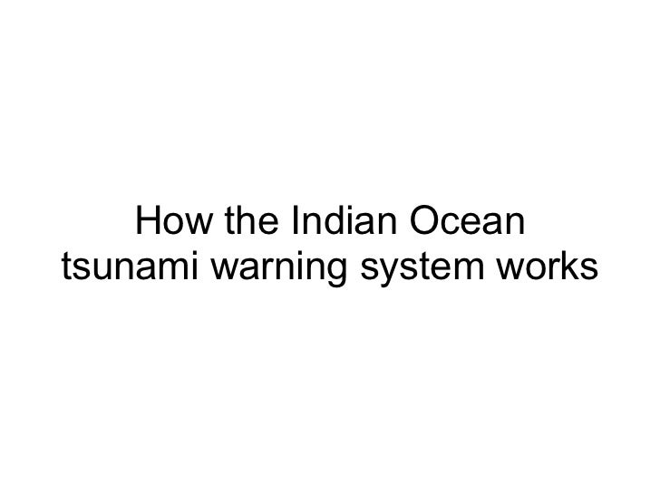 How the Indian Oceantsunami warning system works