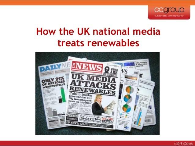 How the uk national media treats renewables