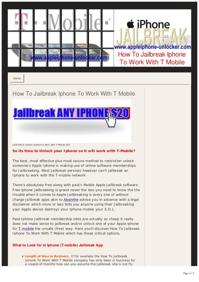 x-[HOW TO]-x How to jailbreak-an-iphone-to-work-with-tmobile