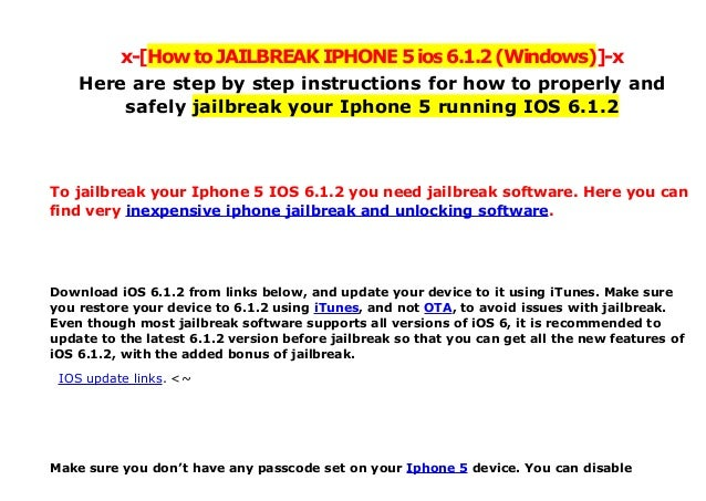 Howto jailbreak-iphone5-ios612-windows