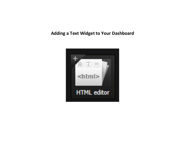 How To - Add a Text Widget to Netvibes