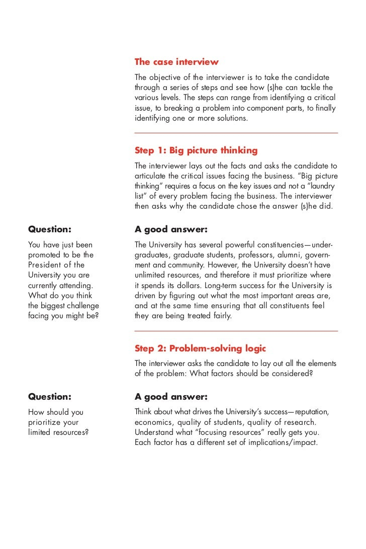 mckinsey interview case studies