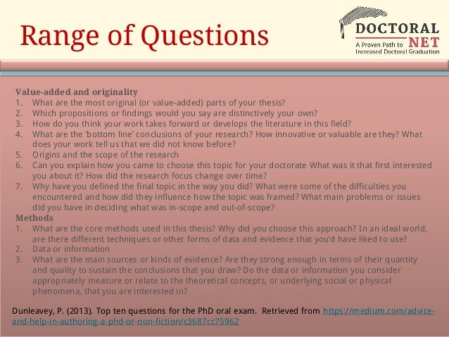 Dissertation oral defense questions