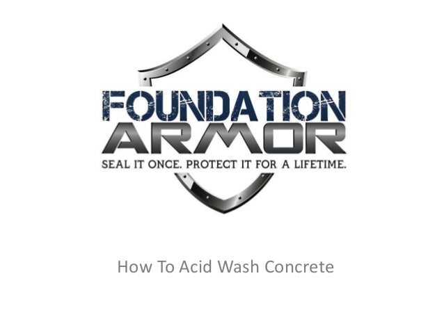 How to acid wash concrete