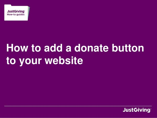 How to add a donate button to your website