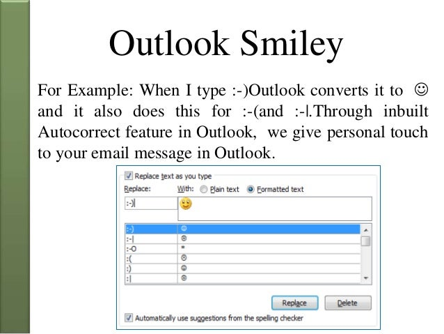 how to create a smiley in outlook