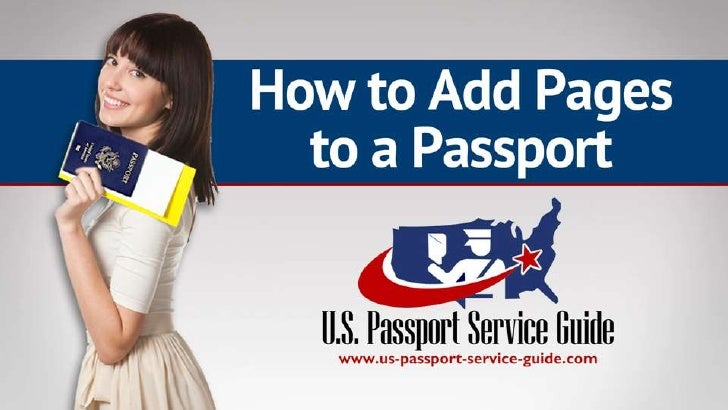 How to Add Visa Pages to a Passport