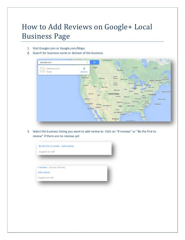 How to Add Reviews on Google+ Local Business Page