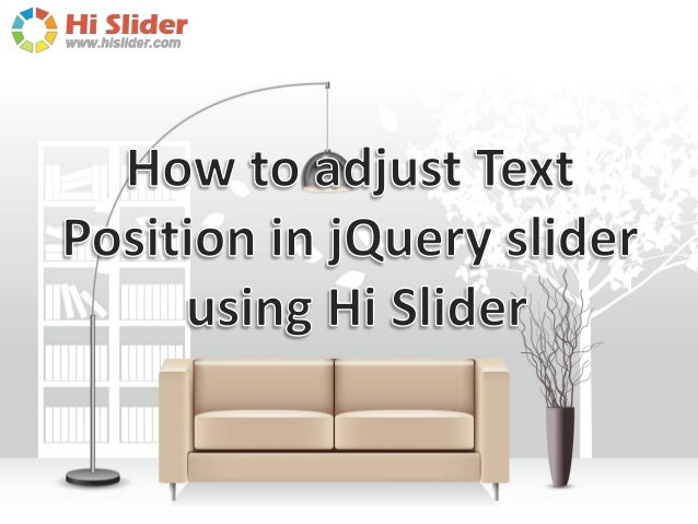 How to adjust text position in jQuery slider using Hi Slider?