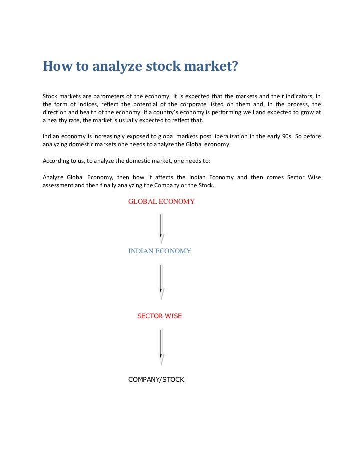 How to analyze stock market?Stock markets are barometers of the economy. It is expected that the markets and their indicat...